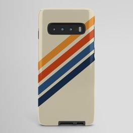 Rainbow 70s 60s Stripe Colorful Rainbow Tan Retro Vintage Android Case