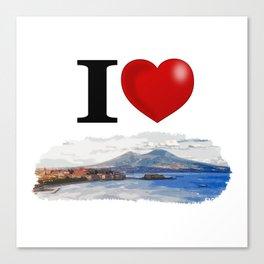 I Love Napoli Canvas Print