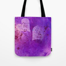 Spatters on my purple hearts Tote Bag
