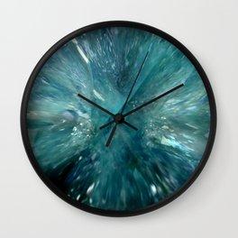 Aqua Aura Quartz Wall Clock