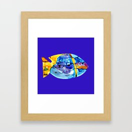 Fish V ( The sun on the waves of the sea ) Framed Art Print