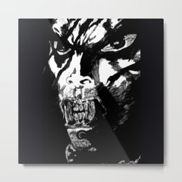 Vampire in Black and White Metal Print