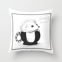 Hedghog Named Pants Throw Pillow