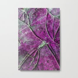 Very Distressed Gothic Grunge Shattered Glass Close Up Abstract Metal Print
