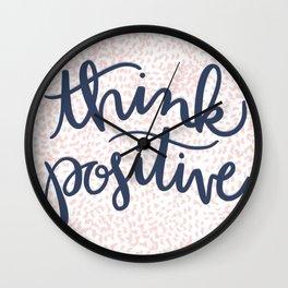 Think Positive Wall Clock