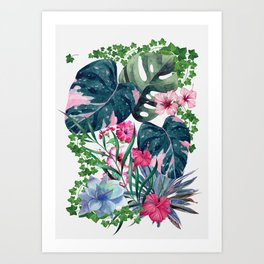 Tropical Plants Art Print
