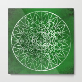 Fire Blossom - Emerald Metal Print