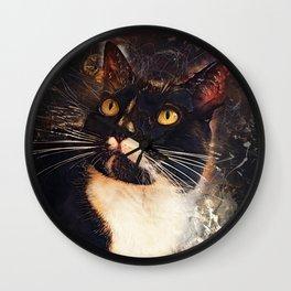 cat Jagoda art #cat #kitty Wall Clock
