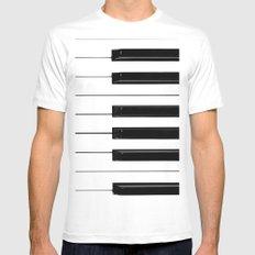 Piano Keys White MEDIUM Mens Fitted Tee