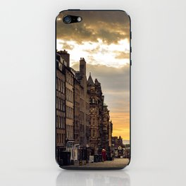 Royal Mile Sunrise in Edinburgh, Scotland iPhone Skin