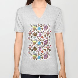 Desserts and Sweets Unisex V-Neck