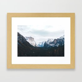 Tunnel View - Yosemite Valley, California Framed Art Print