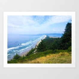 Down the Oregon Coastline Art Print