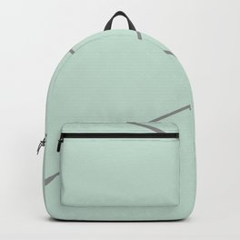 Green and Silver Lines Backpack