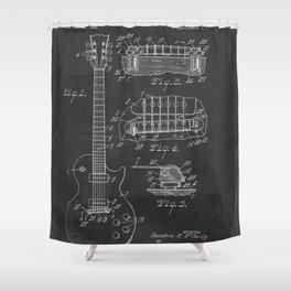 Guitar Patent Gibson Vintage Les Paul Shower Curtain