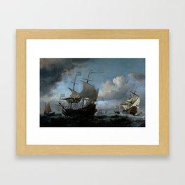 """Willem van de Velde """"The Dutch Fleet Assembling"""" Framed Art Print"""