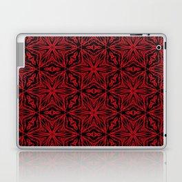 Black and red geometric flowers 5006 Laptop & iPad Skin