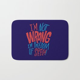 Freedom of Speech Bath Mat