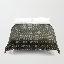 Binary Code - Distressed textured version Duvet Cover