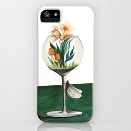Unexpected Terrarium Dragonfly iPhone Case