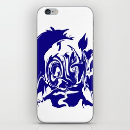 face4 blue iPhone Skin