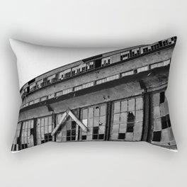 Bethlehem Steel plant windows in black and white Rectangular Pillow