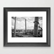 Three poles Framed Art Print