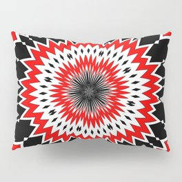 Bizarre Red Black and White Pattern Pillow Sham