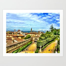 Florence from Boboli Gardens at Pitti Palace Art Print