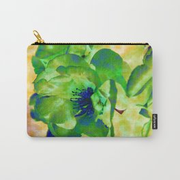 Yellow Rose Abstract Carry-All Pouch