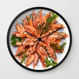 Repo Man - Plate of Shrimp Wall Clock
