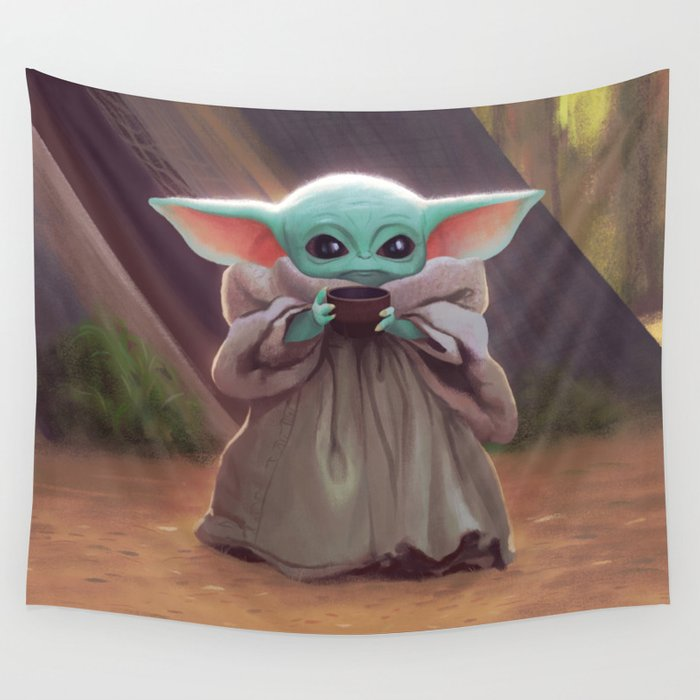 """""""The Child Sips"""" by Dylan Bonner Wall Tapestry"""
