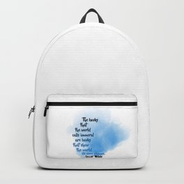 Immoral Books | Oscar Wilde Backpack