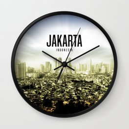 Jakarta Wallpaper Wall Clock