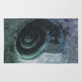 Shell - Sketch inverted colors Rug