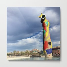 Joan Miró's Woman and Bird Sculpture Metal Print