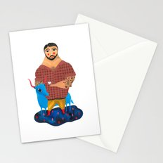 Paul Bunyan and Babe Stationery Cards