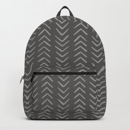 Gray Arrow Mudcloth Backpack