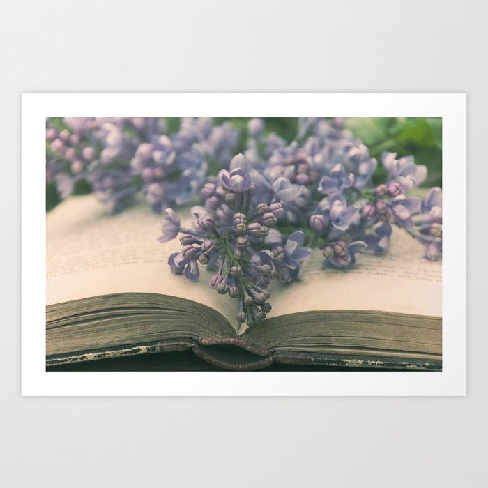 Book of LOVE - Lilacs Syringa Art Print