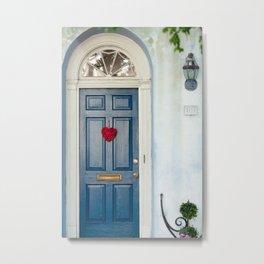 Heart Door Metal Print