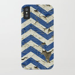 Peeling Chevrons Blue iPhone Case