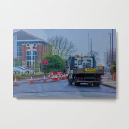 Roadworks, where do they end? - Coventry, England Metal Print
