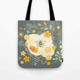 Little Bee and Buttercups Tote Bag