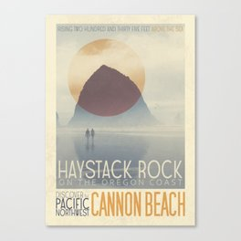 Haystack Rock of Cannon Beach, Oregon Canvas Print