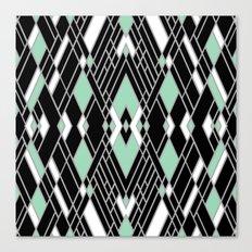 Art Deco Zoom Mint Canvas Print