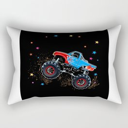 Star Monster Truck Gift Idea Design Motif Rectangular Pillow