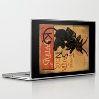 punisher Laptop & iPad Skins featuring Merry Krampus by angrymonk