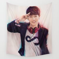 kpop Wall Tapestries featuring INFINITE - SUNGGYU by Nikittysan