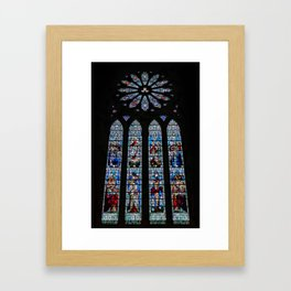 Stained Glass Window of St. Magnus Cathedral Framed Art Print