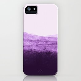 Amethyst Watercolor Crush iPhone Case